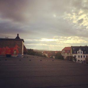 Hier sind wir: Über den Dächern von Hildesheim