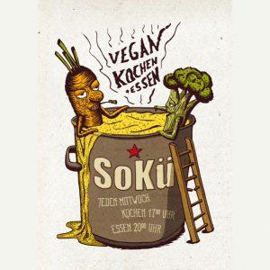 SoKü, Logo, Kochtopf, Gemüse, Suppe