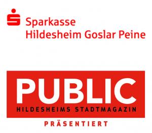 PUBLIC Stadtmagazin Sparkasse Hildesheim Goslar Peine Logo