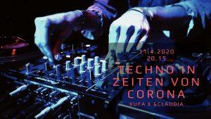 Techno in Zeiten von Corona Banner zur Veranstaltung