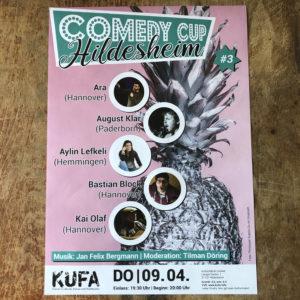 Comedy Cup Hildesheim Plakat KUFA April 2020