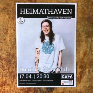 Dominik Wagenführ Konzert Plakat KUFA-Projekt Heimathaven April 2020