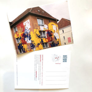 Nordstadt-Wandgalerie Postkarte Beautiful People Blumen