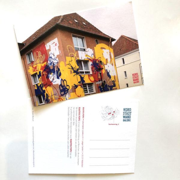 Nordstadt-Wandgalerie Postkarte Beautiful People Blumen
