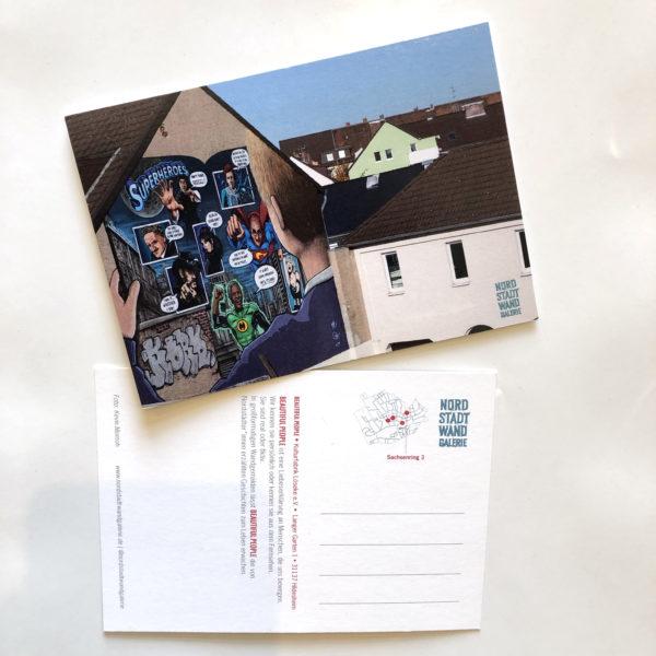 Nordstadt-Wandgalerie Postkarte Beautiful People Superheroes