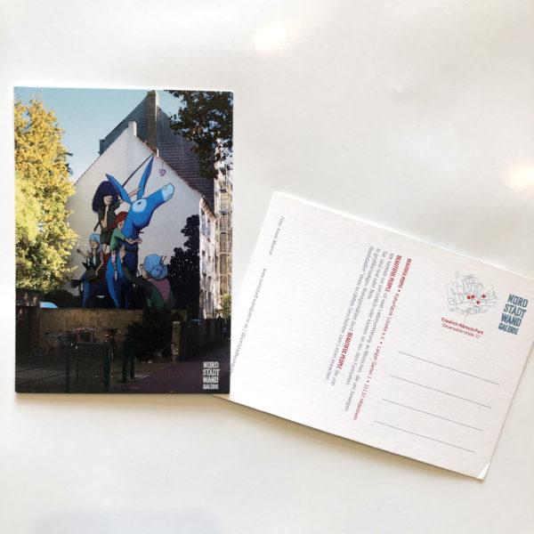 Nordstadt-Wandgalerie Postkarte Beautiful People Esel
