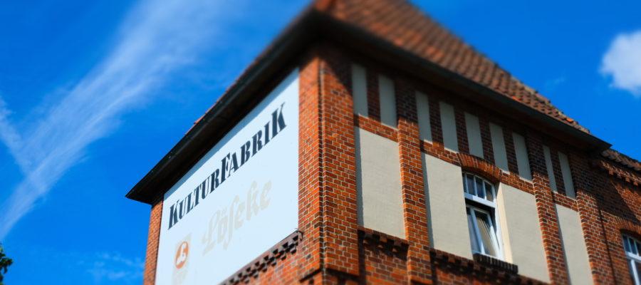 Kulturfabrik Löseke, KUFA, KulturFabrik e.V., Verein, Kultur, Veranstaltungen, Turm, Gebäude, Fabrik, Wiederöffnung, Programm